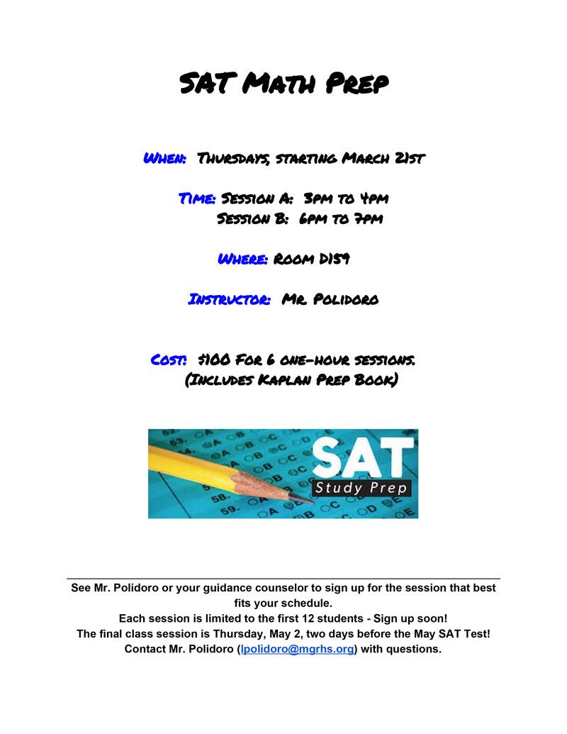 Mount Greylock Regional School District: SAT Math Prep